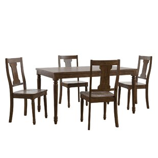 Petrucci Reclaimed Wood 5 Piece Dining Set