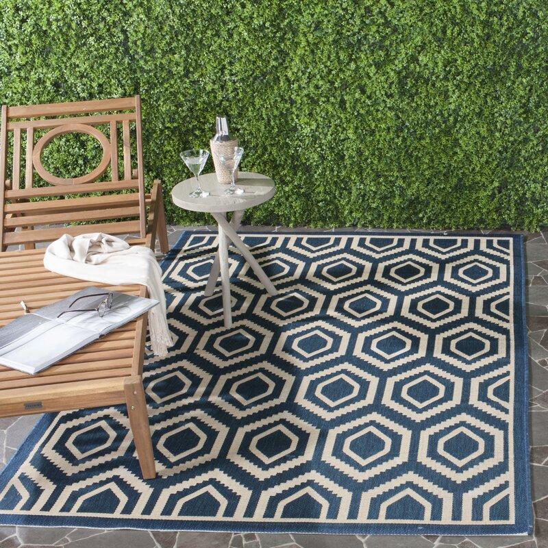 safavieh innen und au enteppich in navyblau beige bewertungen. Black Bedroom Furniture Sets. Home Design Ideas