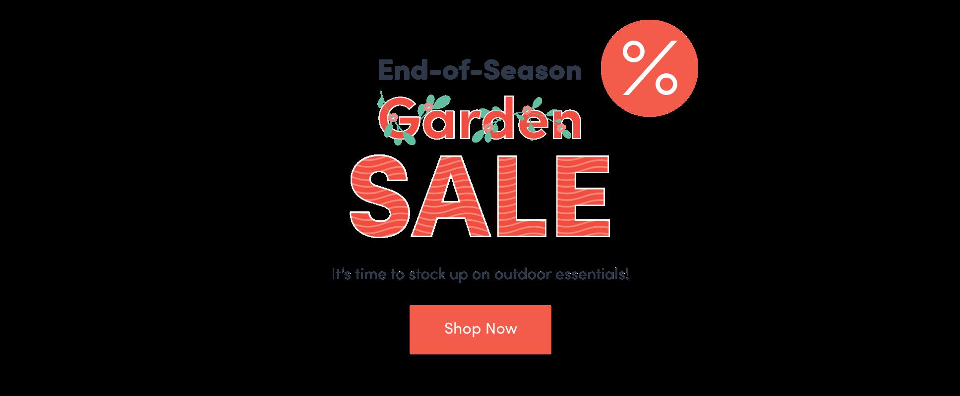 Outdoor End of Season Sale