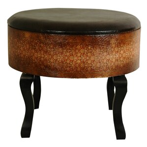Clair Vintage Ottoman by World Menagerie