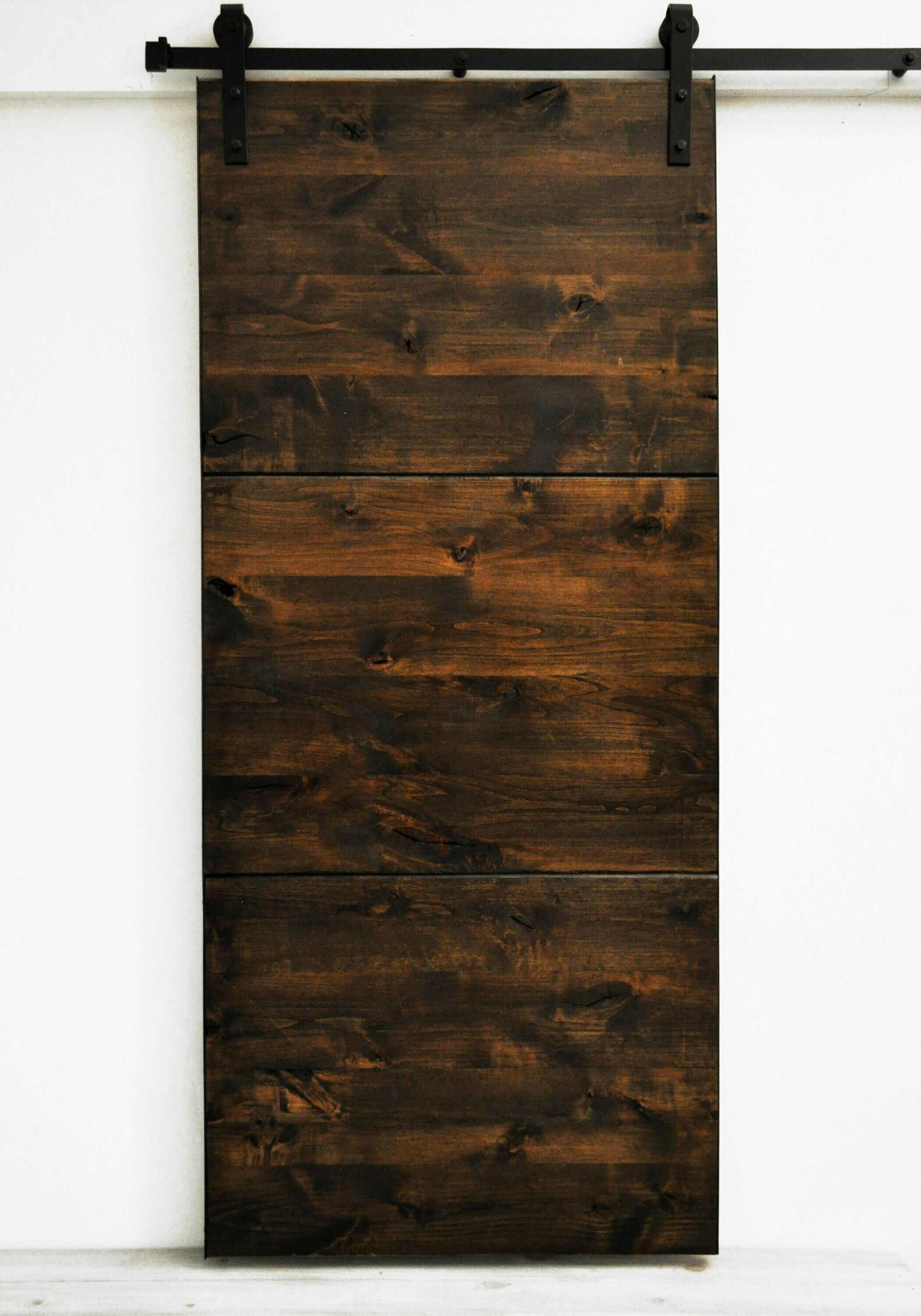 Dogberry Collections Modern Slab Wood 1 Panel Stained Interior Barn