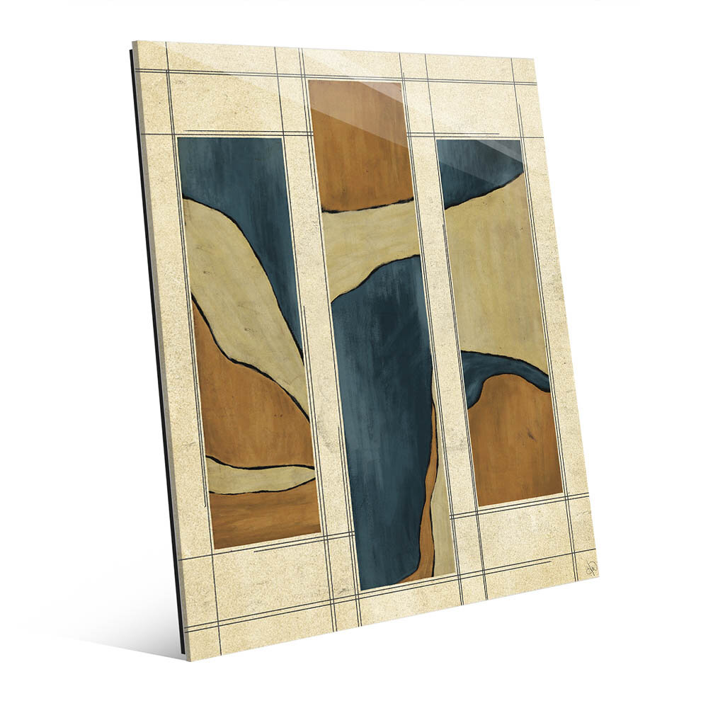 Click wall art marble bars blue and orange painting print for Best brand of paint for kitchen cabinets with wall art for staircase wall