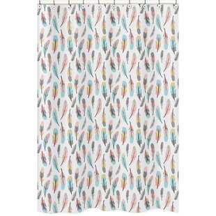 Coral And Gray Shower Curtain Wayfair