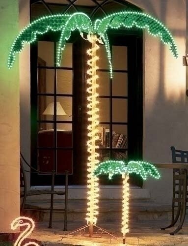 Outdoor Lighted Palm Trees Roman inc tropical lighted holographic rope light outdoor palm tropical lighted holographic rope light outdoor palm tree decoration workwithnaturefo