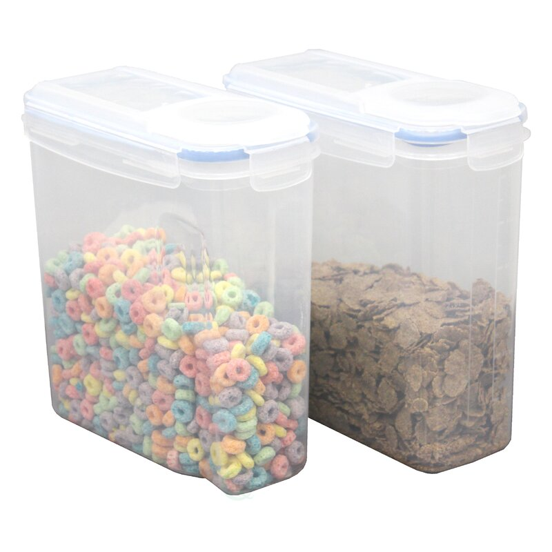 Large BPA-Free Plastic Cereal Bulk Food Storage Container with Airtight Spout Lid  sc 1 st  Wayfair & Rebrilliant Large BPA-Free Plastic Cereal Bulk Food Storage ...