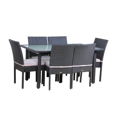 Brayden Studio Millsap 7 Piece Outdoor Dining Set with Cushions