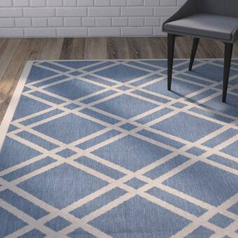 Gracie Oaks Elissa Hand-Woven Blue Area Rug | Wayfair