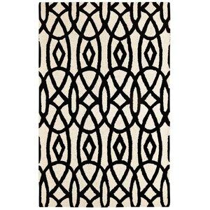 Rentz Ivory/Black Area Rug