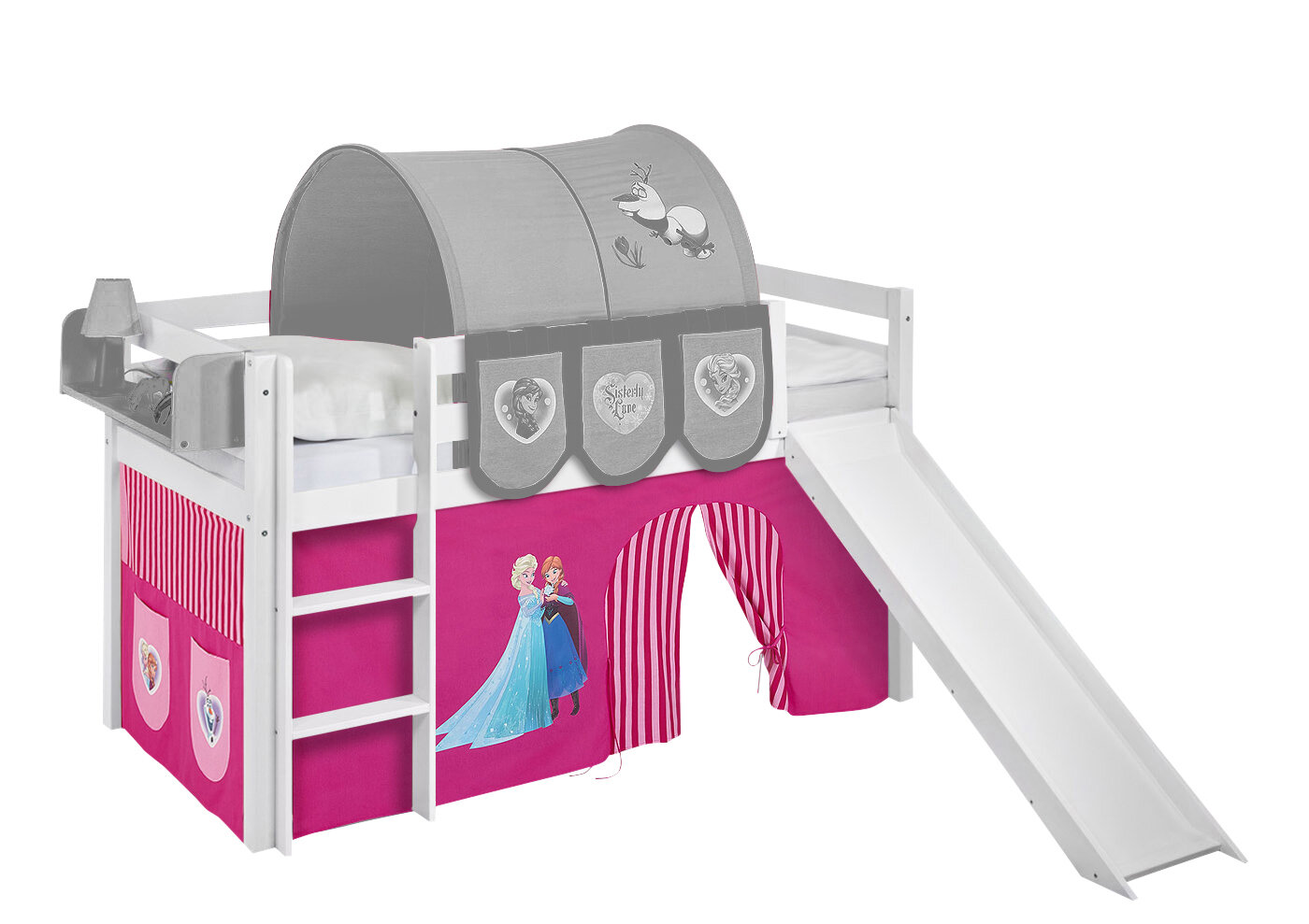 Etagenbett Zubehör Vorhänge : Frozen hochbett disneys mit hochbettvorhang & bewertungen