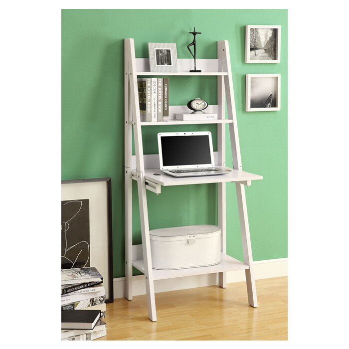 Monarch Specialties Inc 61 Leaning Bookcase Reviews Wayfair