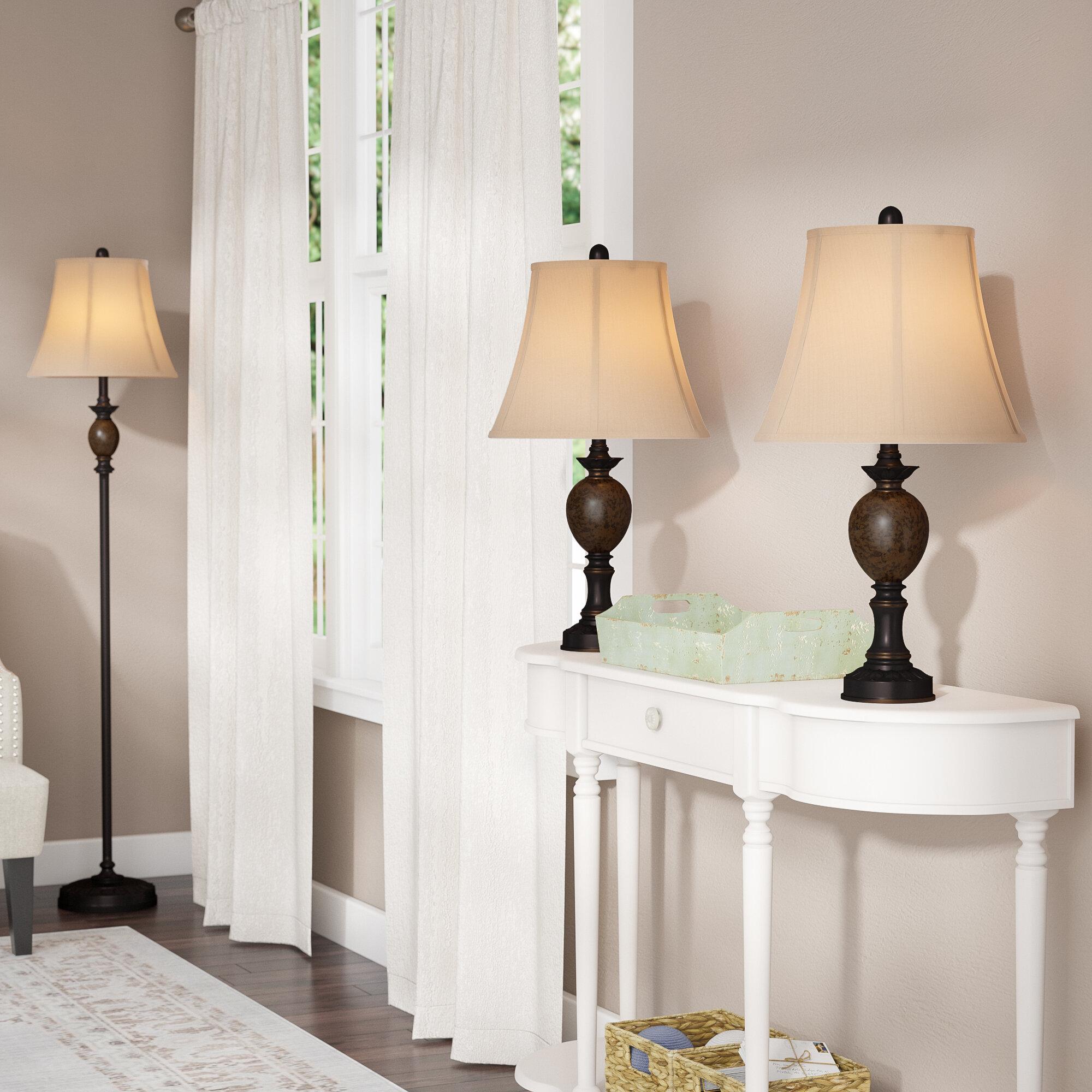 Three Posts Borowski 3 Piece Table And Floor Lamp Set Reviews