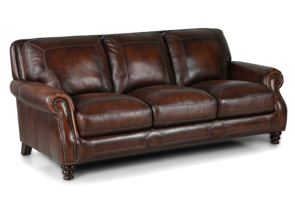 Charmant Goldhorn Leather Sofa