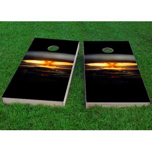 Nuclear Bomb Explosion Cornhole Game (Set of 2)