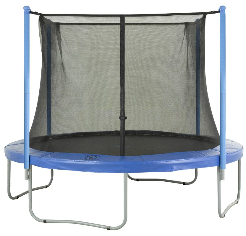 Upper Bounce 14' Round Trampoline Net Using 4 Poles Or 2