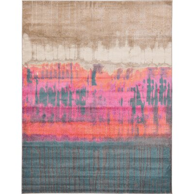 Wrought Studio Wynn Traditional Pink Area Rug Rug Size: Rectangle 9' x 12'