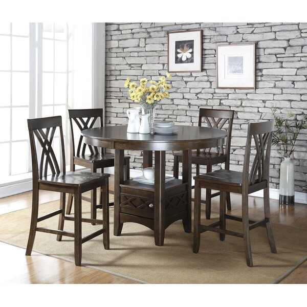 Tall Dining Table: Living In Style Ashley 5 Piece Counter Height Dining Table
