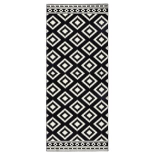 Ethno Rug In Black Cream