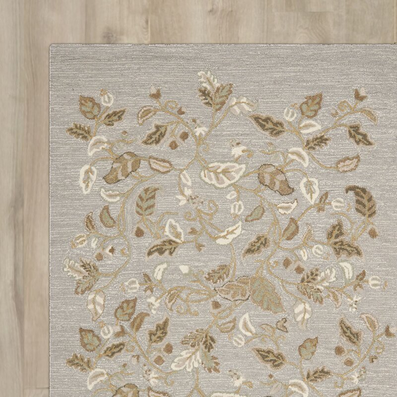 Autumn Woods Hand-Tufted Gray Squirrel Area Rug & Reviews