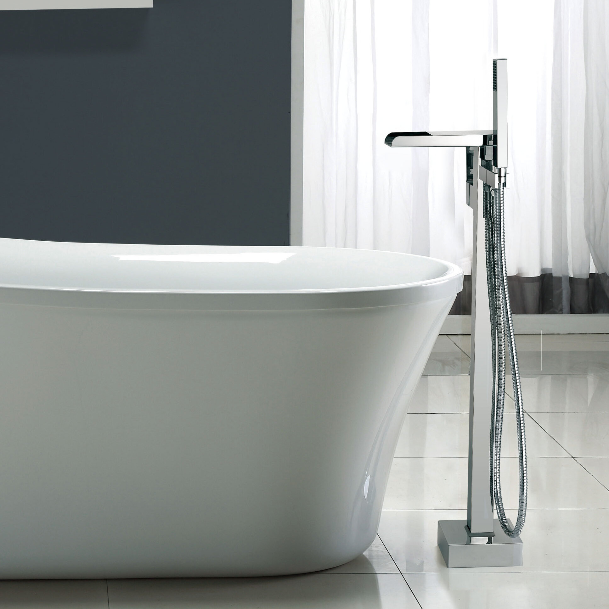 Ove Decors Infinity Floor Mounted Tub Faucet & Reviews