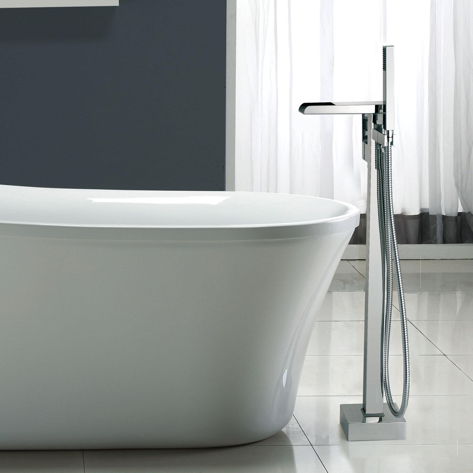 Bathtub Faucet.Infinity Floor Mounted Tub Faucet