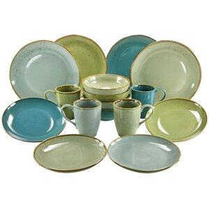Nature 16 Piece Dinnerware Set with Mug, Service for 4