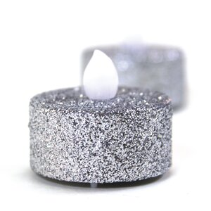 Glitter LED Tealight with Flicker (Set of 24)
