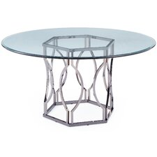 Glass Round Dining Table For 6 modern glass dining + kitchen tables | allmodern