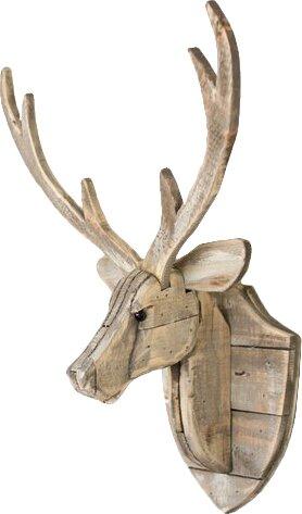 Recycled Wooden Deer Head Hanging Wall Décor & Reviews | Joss & Main