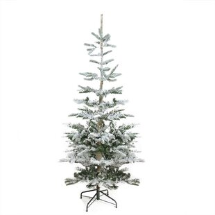 flocked noble 9 fir trees greenwhite artificial christmas tree with stand