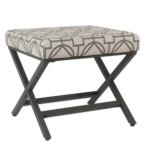 Porrima Upholstered Lattice Ottoman by Varic..