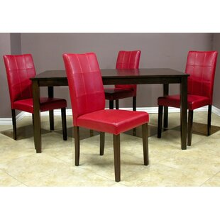 Evellen 5 Piece Solid Wood Dining Set (Set of 5)