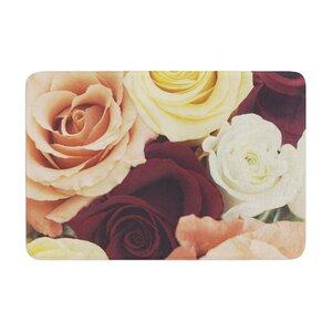 Libertad Leal Vintage Roses Memory Foam Bath Rug