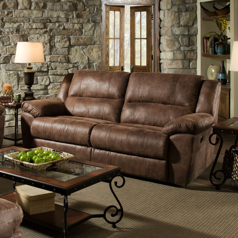 Simmons Living Room Furniture. Umberger Contemporary Double Motion Reclining Sofa by Simmons Upholstery Loon Peak