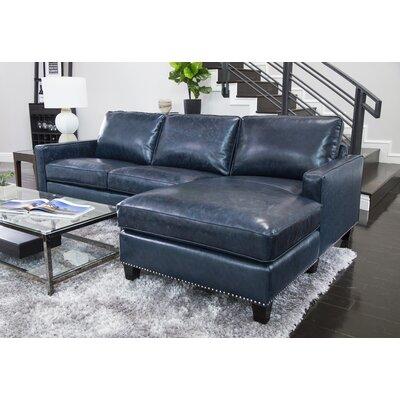 Navy Blue Leather Sectional Wayfair