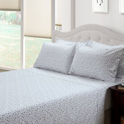214 West Ditsy Floral Lily 300 Thread Count Cotton 3 Piece Sheet Set  Size: Full