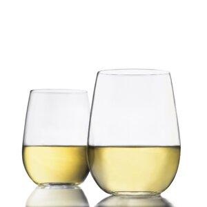 Vina Stemless 17 oz. Wine Glass (Set of 4)
