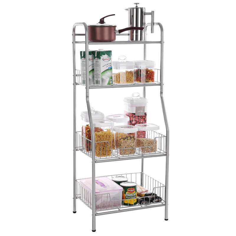 wire tiers home ebs rack shelf steel storage dp for with shelving garage black metal wheels racks kitchen unit frame workplace