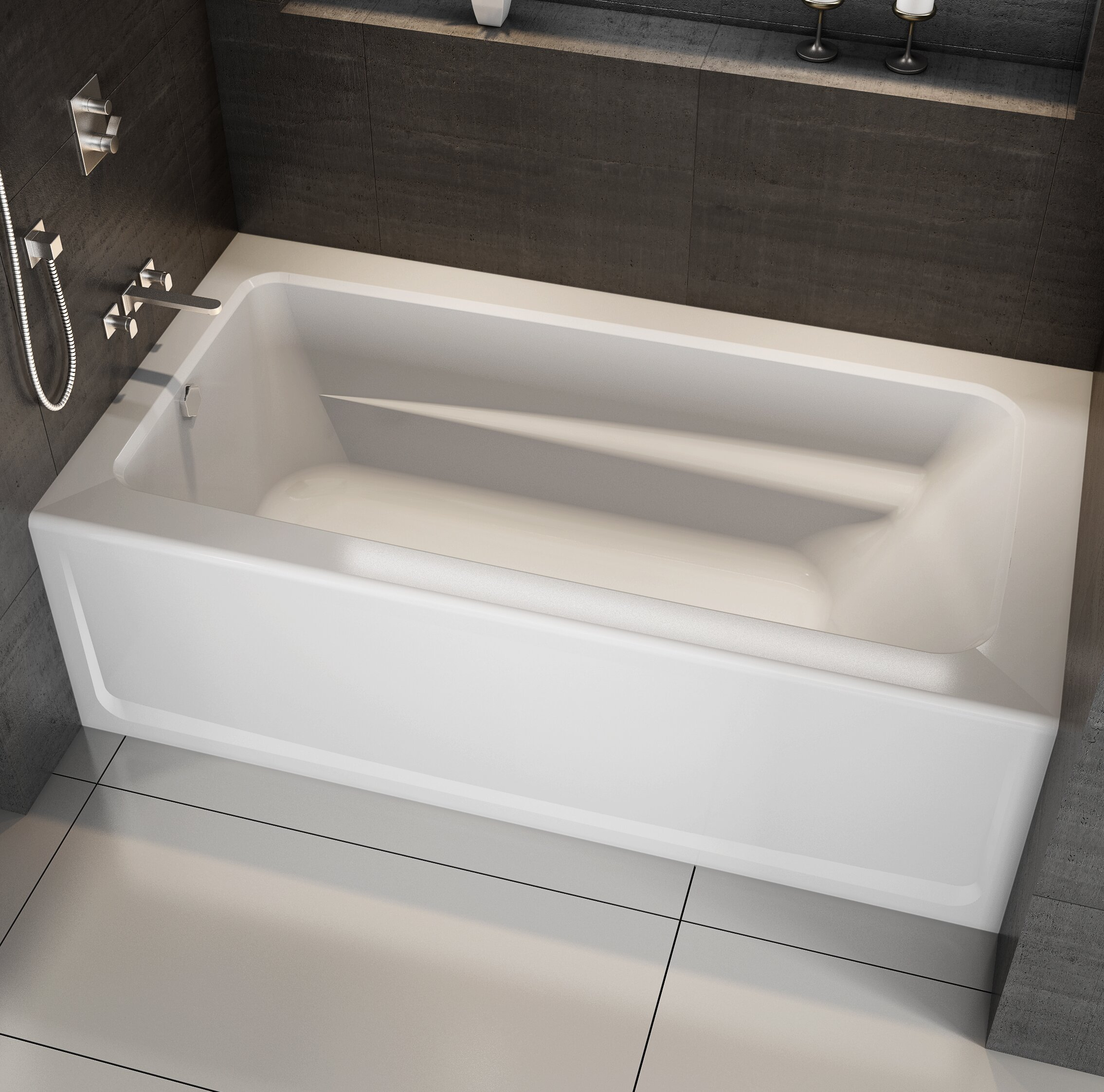 Jacuzzi Signature 60 X 36 Alcove Bathtub Wayfair