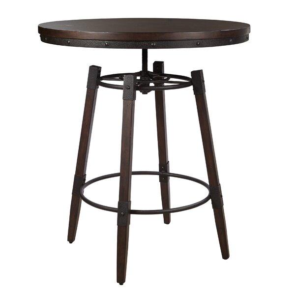 Williston Forge Bingaman Vintage Adjustable Height Bar Table   Wayfair