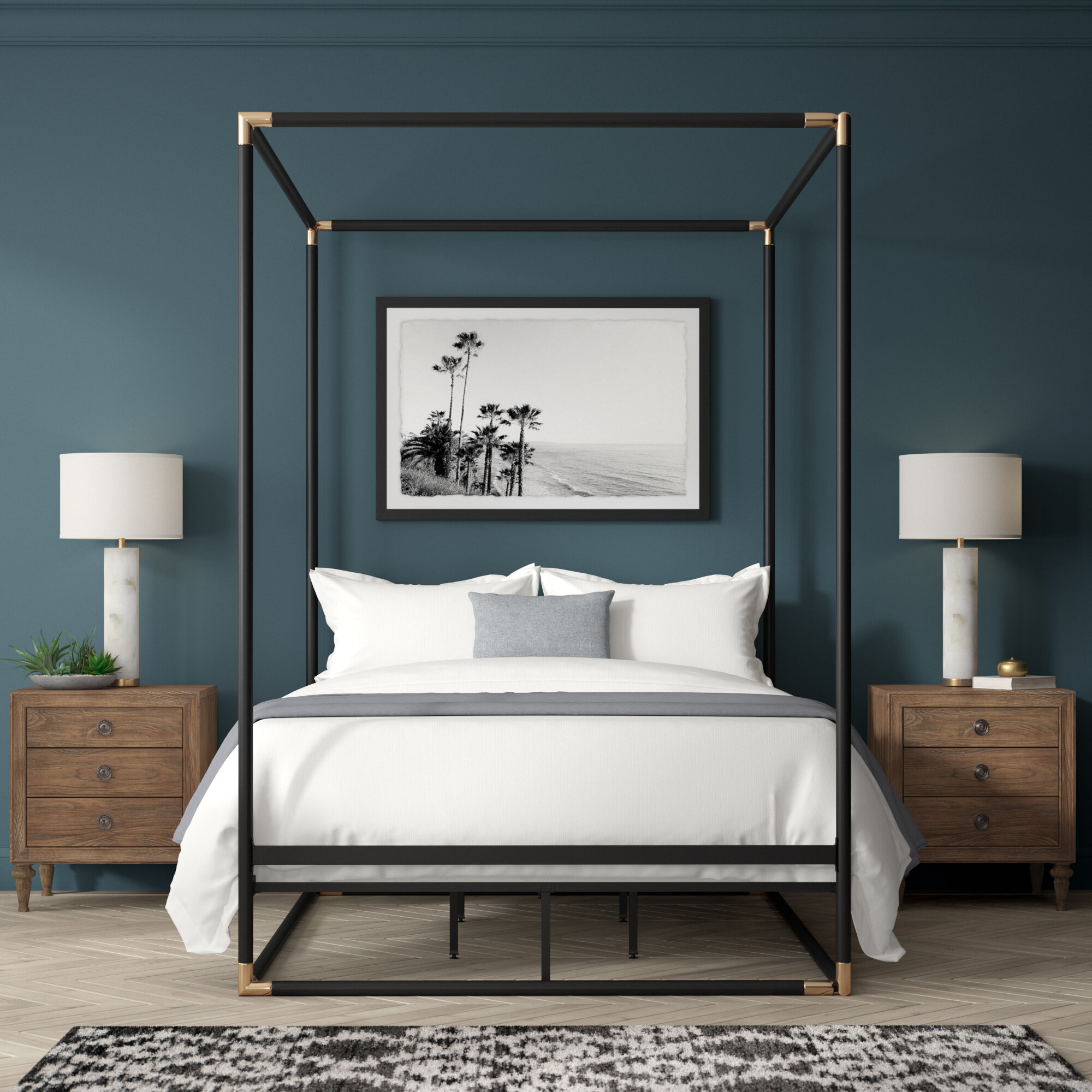 Canopy Bed.Billie Queen Canopy Bed