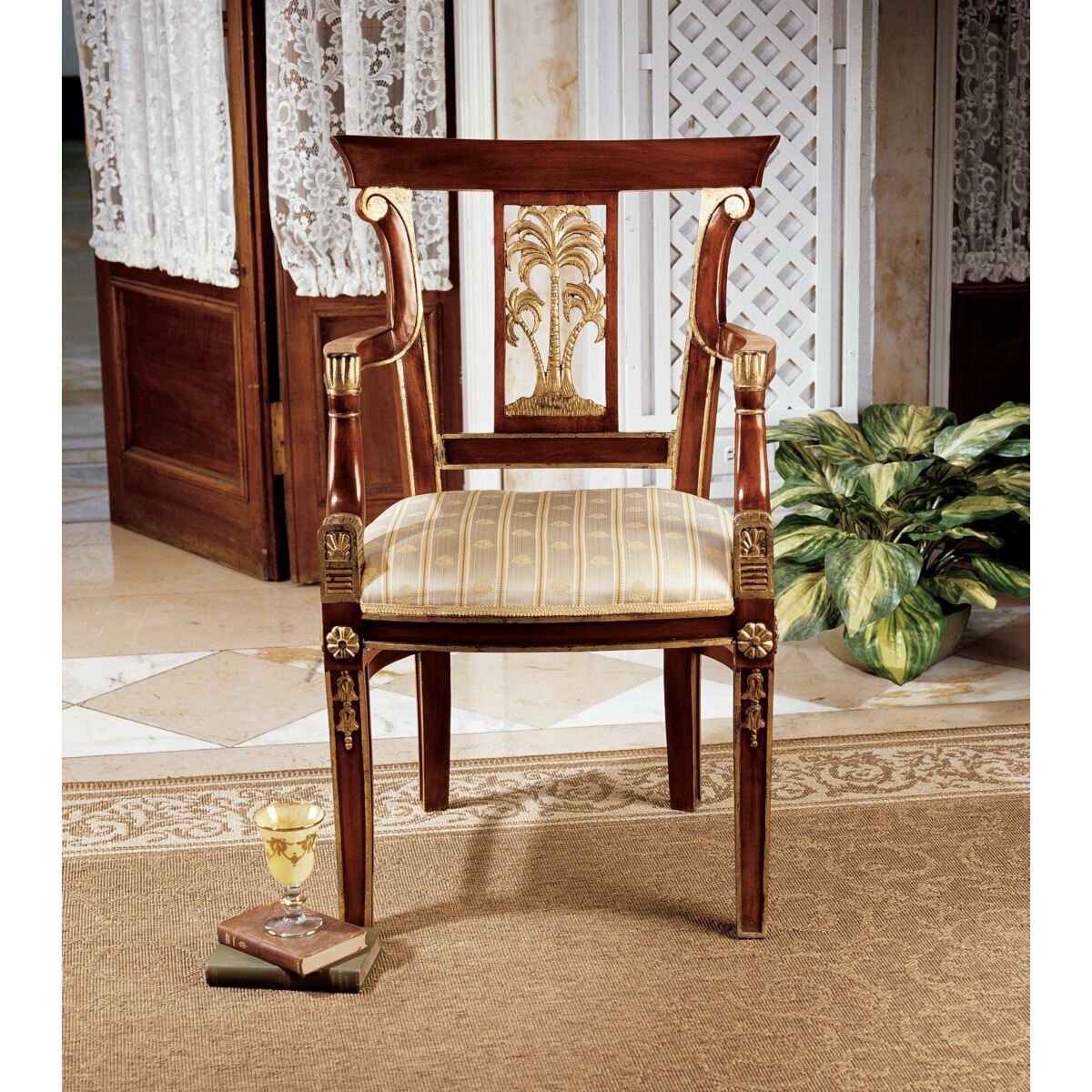 Design Toscano British Colonial Plantation Fabric Armchair   Wayfair