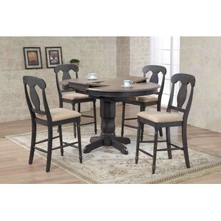 Napoleon Back Counter Height 5 Piece Pub Table Set
