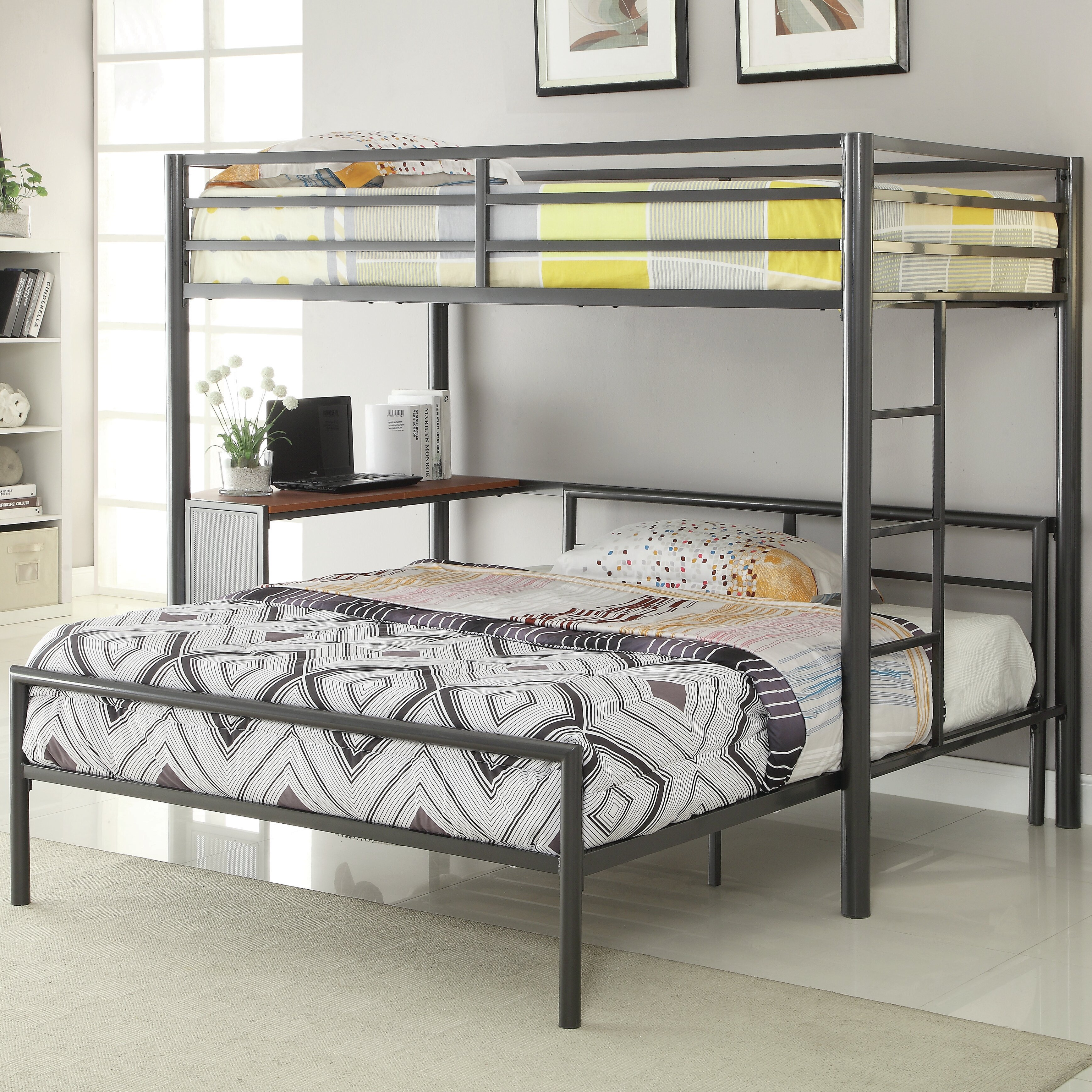 804bedf2edb Harriet Bee Nedra Twin Over Full L-Shaped Bunk Bed   Reviews