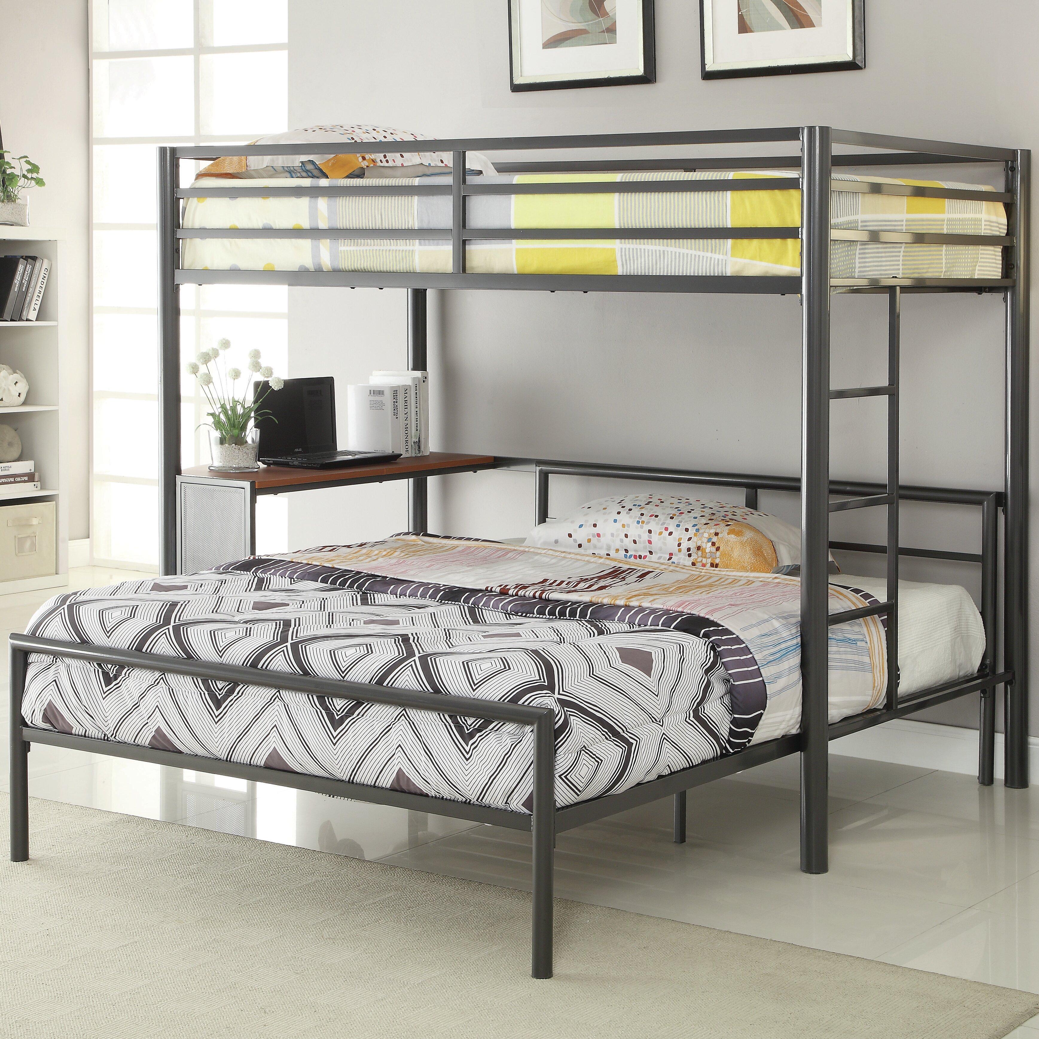 Harriet Bee Nedra Twin Over Full L Shaped Bunk Bed Reviews Wayfair