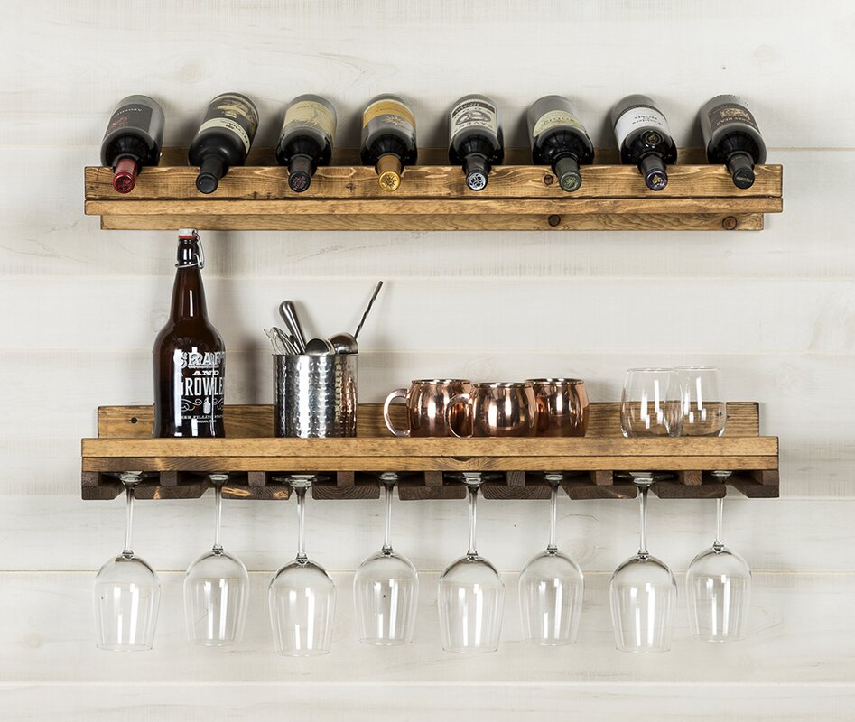 Trent Austin Design Berlyn 2 Piece 8 Bottle Wall Mounted