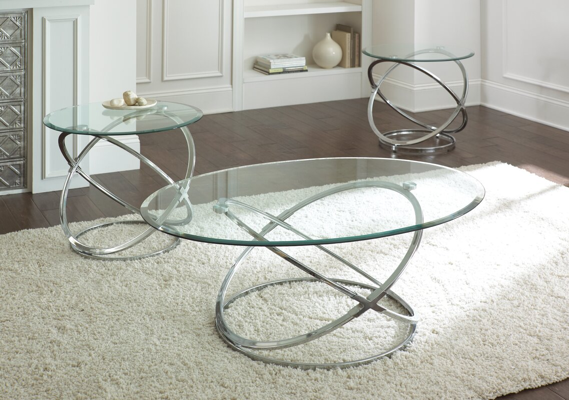 Glass Coffee Table Sets You ll Love
