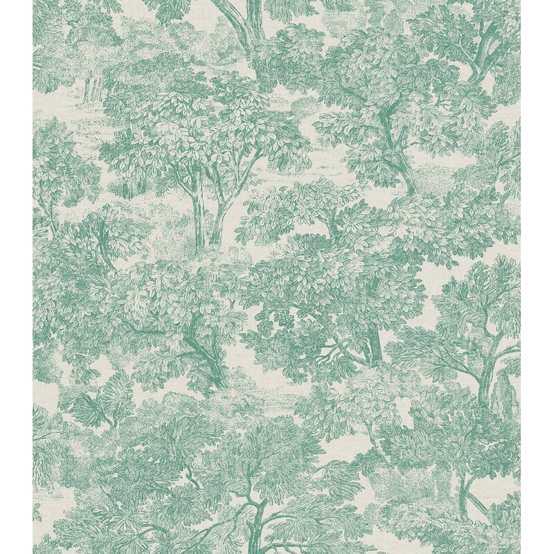 "Sage Hill Blyth Toile 33' x 20.5"" Wallpaper Roll"