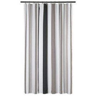 Extra Long Shower Curtain 72 X 78 Inch Gamma Grey And Taupe Stripes Fabric