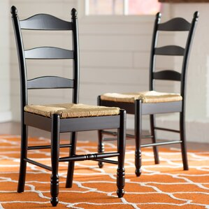 ladder back solid wood dining chair set of 2 - Wayfair Dining Chairs
