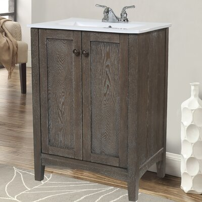 "Bathroom Vanity 24 X 17 andover mills reynal 24"" single bathroom vanity set & reviews"